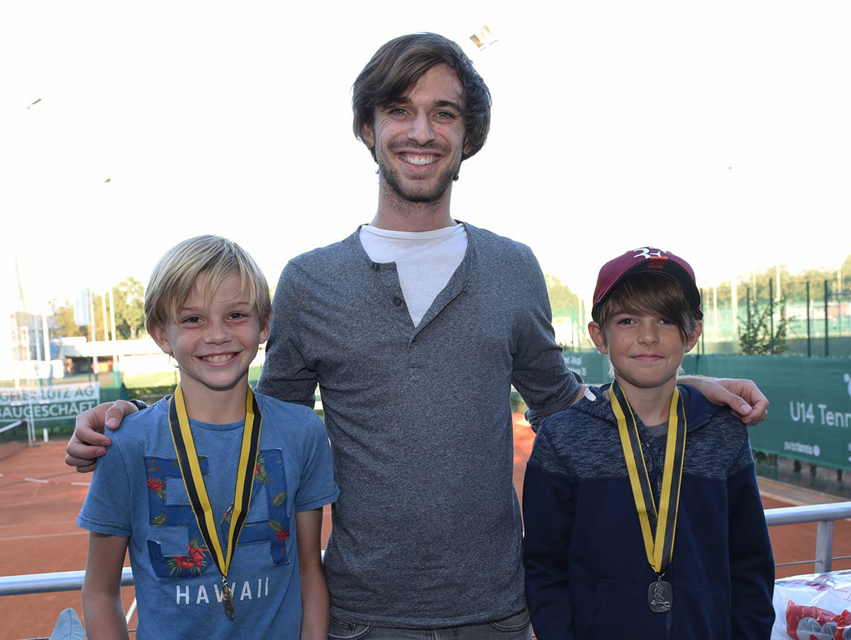 Clubmeister U12: Henry Bernet (links), 2. in dieser Kategorie Tilo Hueskes (rechts)
