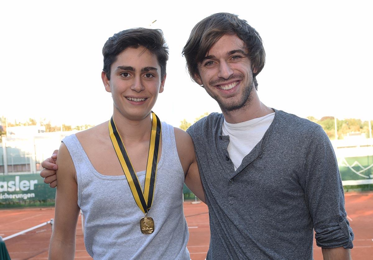 Clubmeister U18 : Loris Vogler (links) mit Raphael Niederer