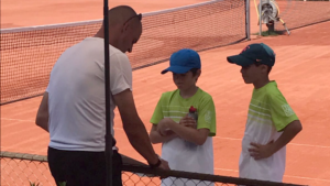 Trainer Alexis Bernhard-Castelnuovo coacht die U12-Junioren
