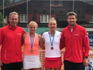 The Winning Team: Yves Allegro (Swisstennis), Joanne Züger, Leonie Küng (zweite Halbfinalistin), Marco Chiudinelli